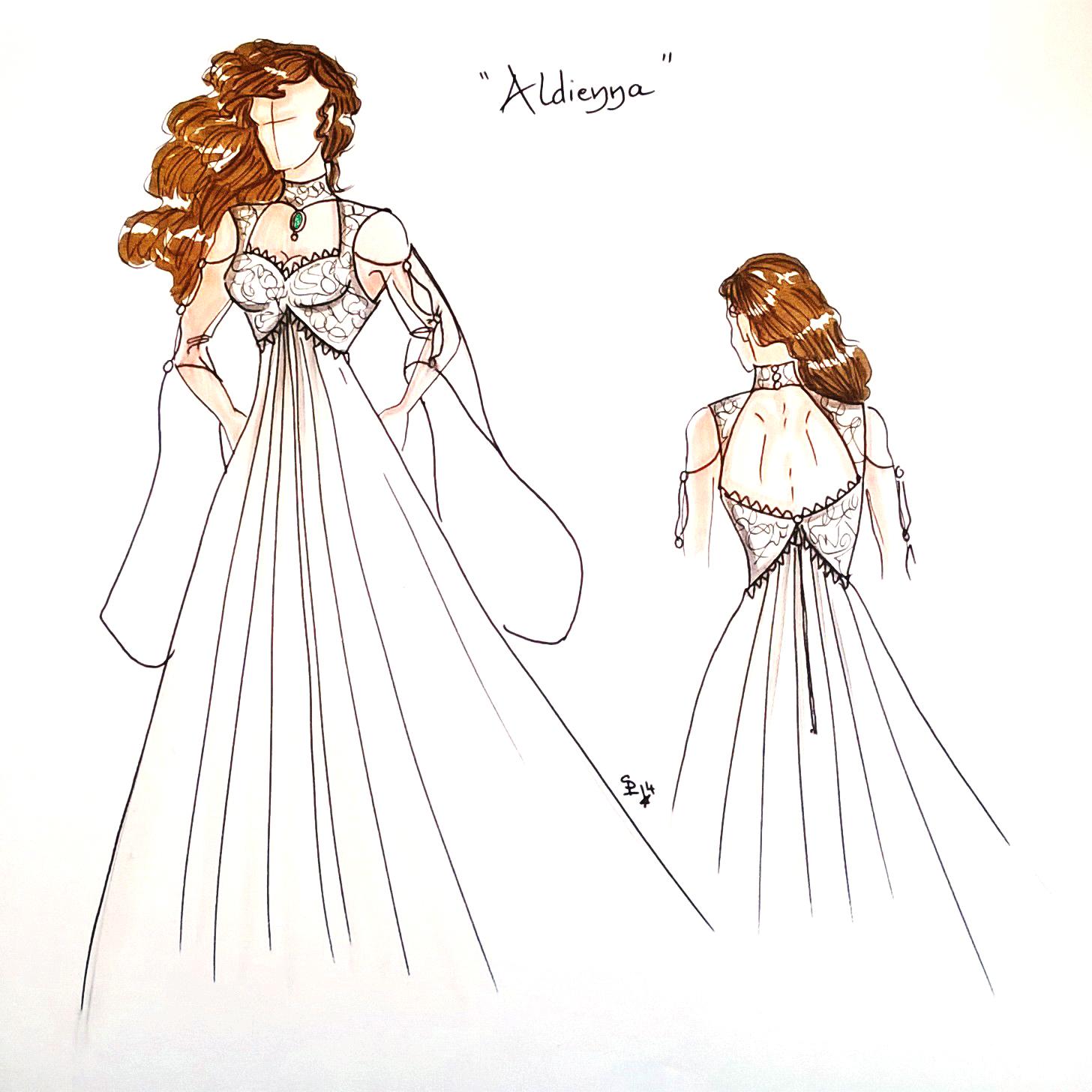 Aldienna, une robe de mariée elfique